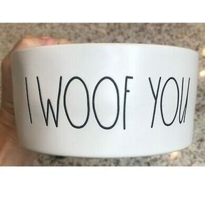 NEW Rae Dunn By Magenta I WOOF YOU Dog Dish
